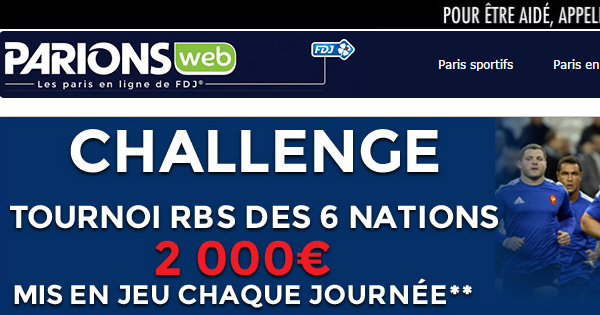 ParionsWeb actif sur les 6 Nations
