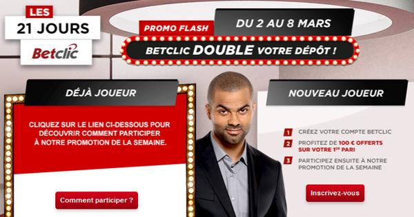 BetClic double les dépôts