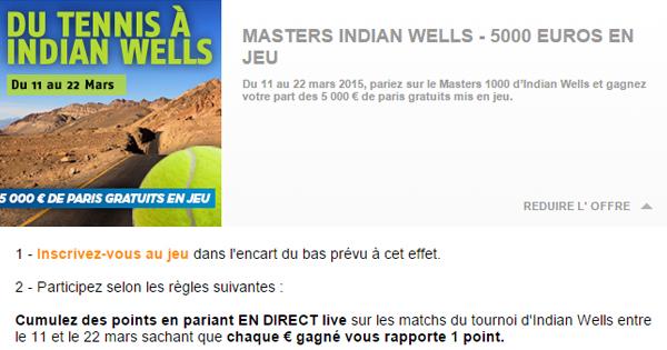 PMU : 5000€ sur le tennis