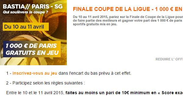 Finale de la Coupe de la Ligue 2015