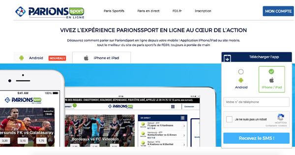 Applications apple Parions Sport
