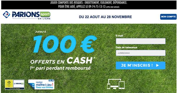 Offre Bienvenue Paris Sportif