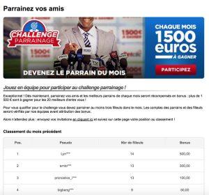 Challenge parrainage Betclic